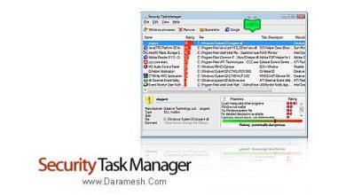 Photo of دانلود Security Task Manager v2.1i – نرم افزار نمایش مشخصات برنامه های در حال اجرا