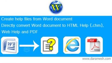 Photo of دانلود Softany WordToHelp 3.201 تبدیل فایل Word به فایل راهنما